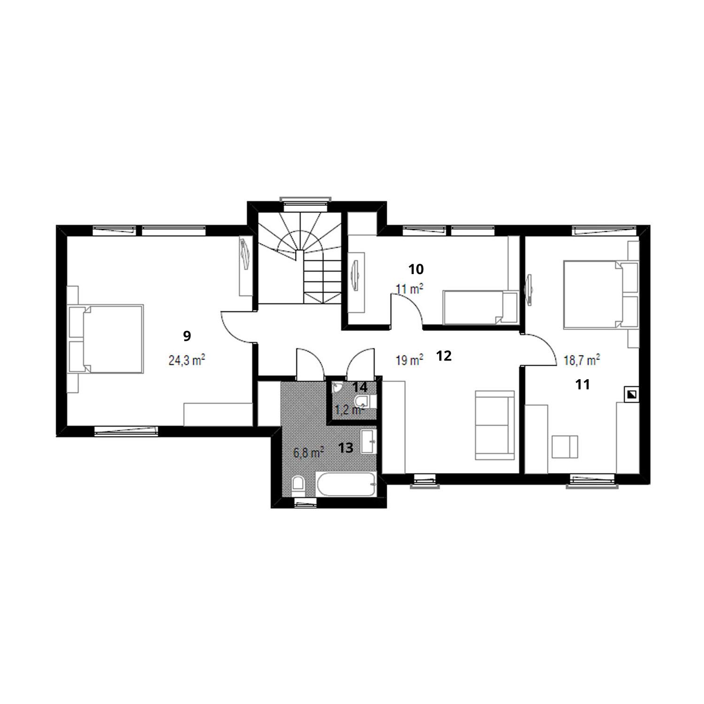 WoodVille Design WoodPanel WOODSTOCK 191M2 Grondplan
