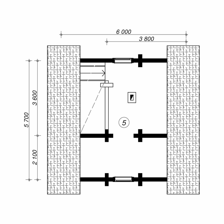 WoodVille Design Blokhut CARIBOO 54M2 Grondplan