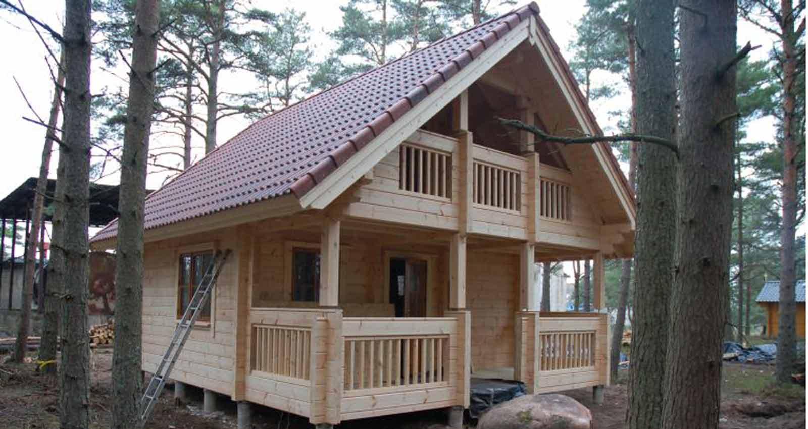 WoodVille Design Blokhut Loghuis CARIBOO 54B