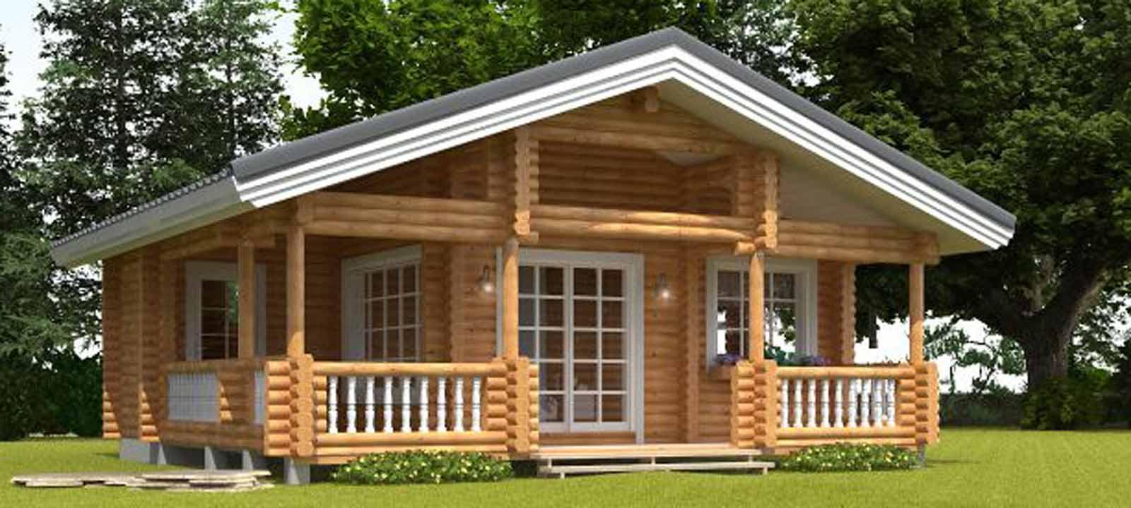 WoodVille Design Blokhut FROZANOVA RLR 54M2