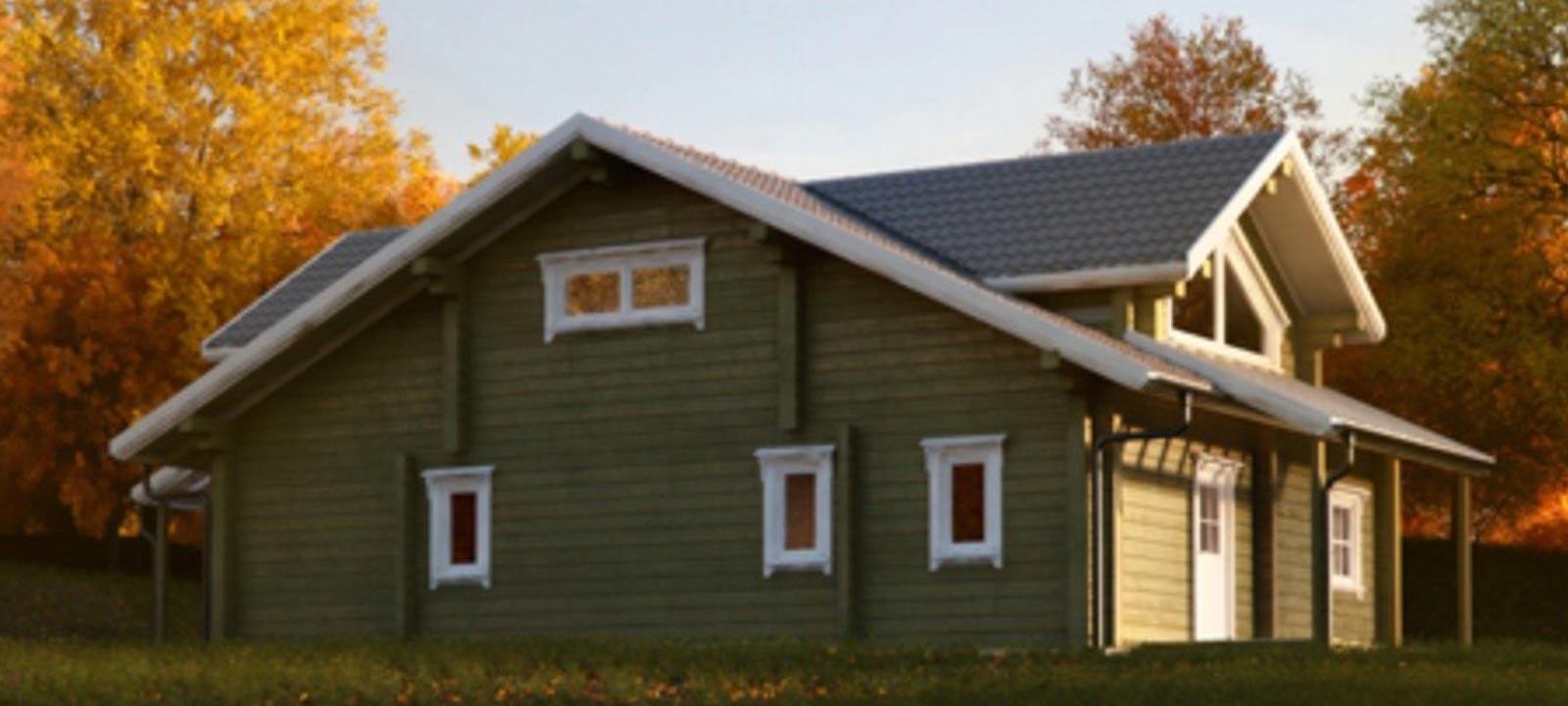 WoodVille Design Blokhut GREENFIELD VLR 144M2