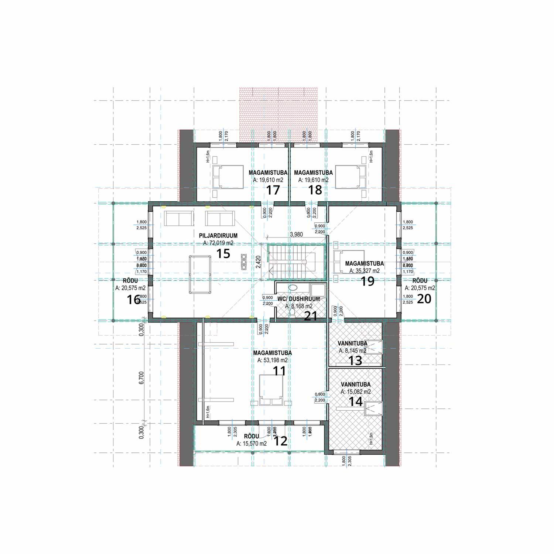 WoodVille Design Blokhut KINGSLANDING 650M2 grondplan