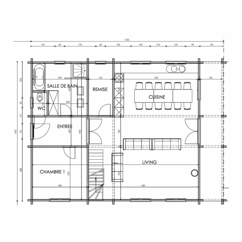 WoodVille Design Blokhut MtBELGICA 176M2 Grondplan