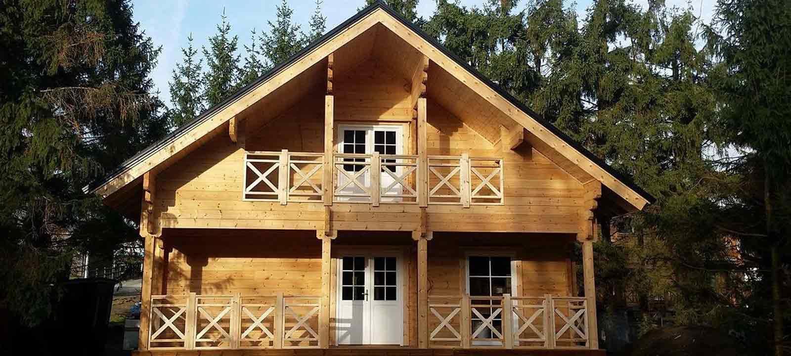 WoodVille Design Blokhut MtBELGICA VLR 176M2