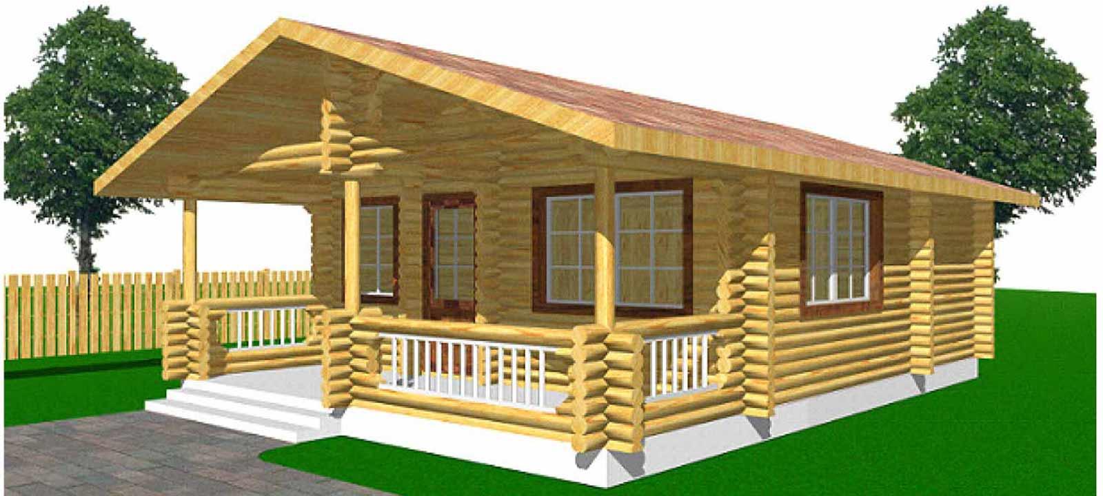 WoodVille Design Blokhut MtNIMBA RLR 49M2